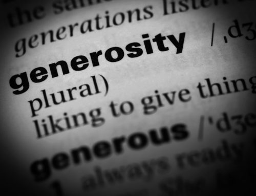 GENEROSITY, Our Credo for 2018